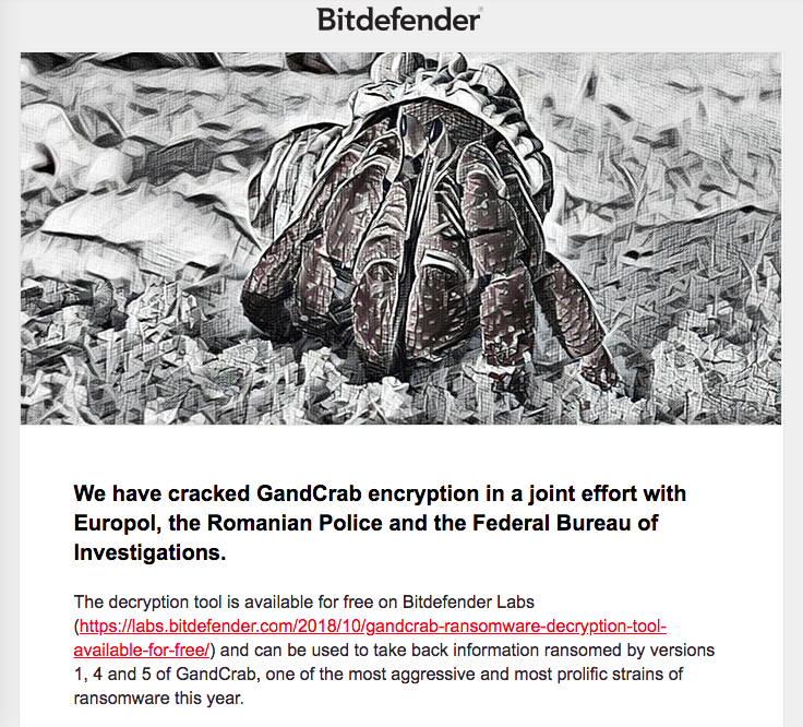 Bitdefender Cracks Gandcrab Encryption Infection » Forum Post by Hankers