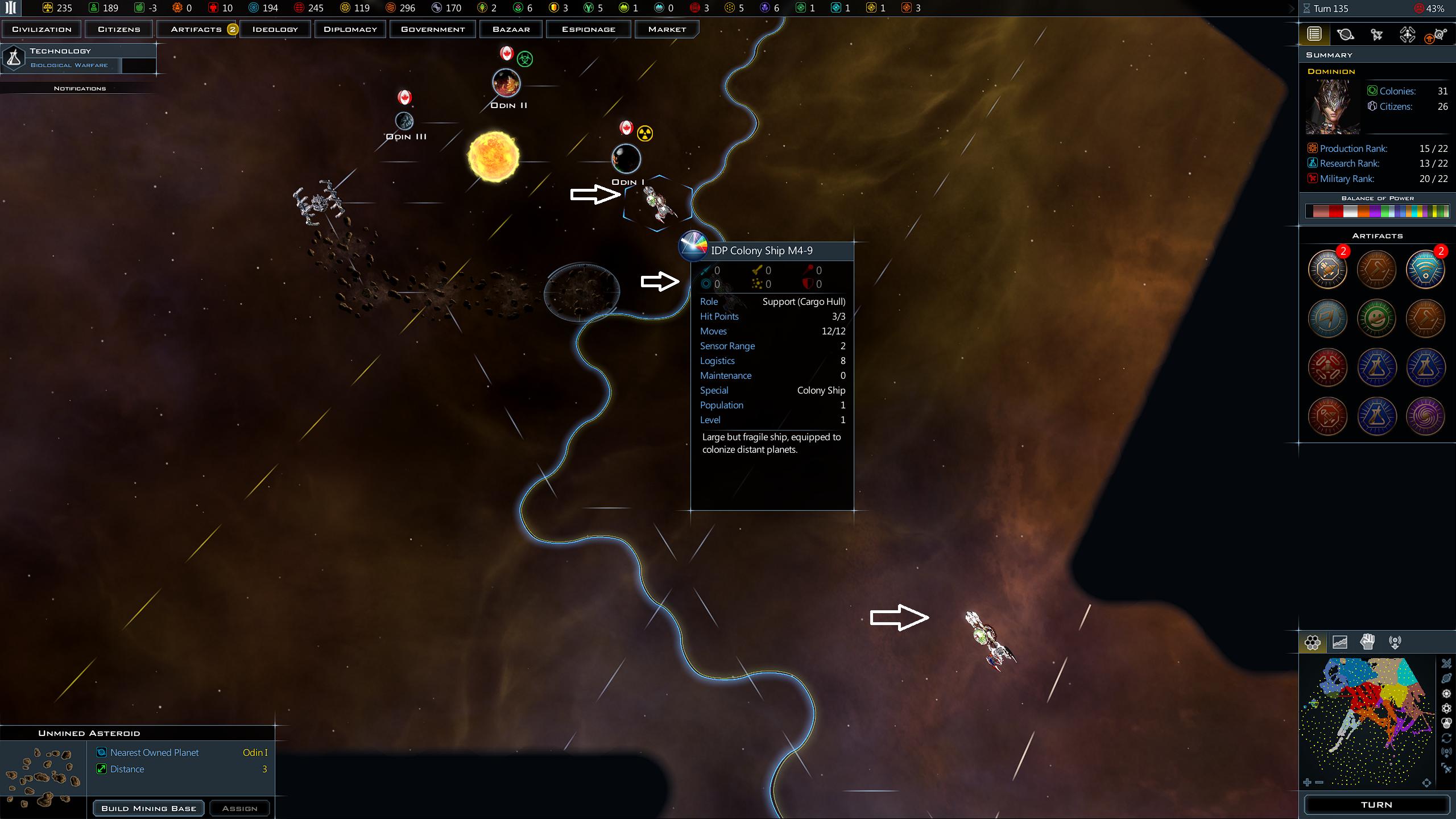 Odin I colony ship