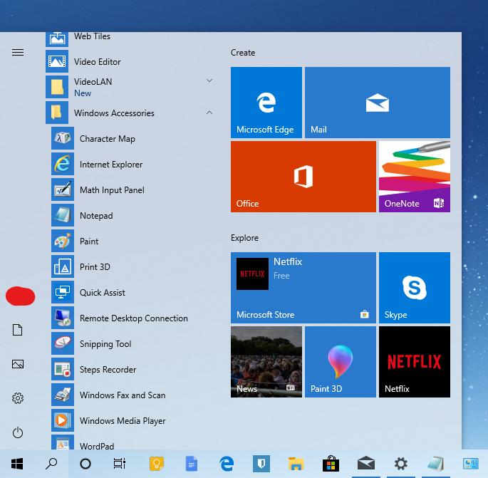 Light theme - Windows 10