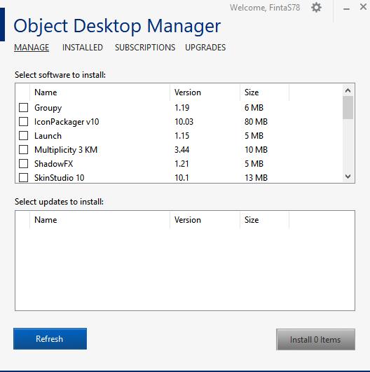 I don t even see DeskScapes 8 in Object Desktop Mannager