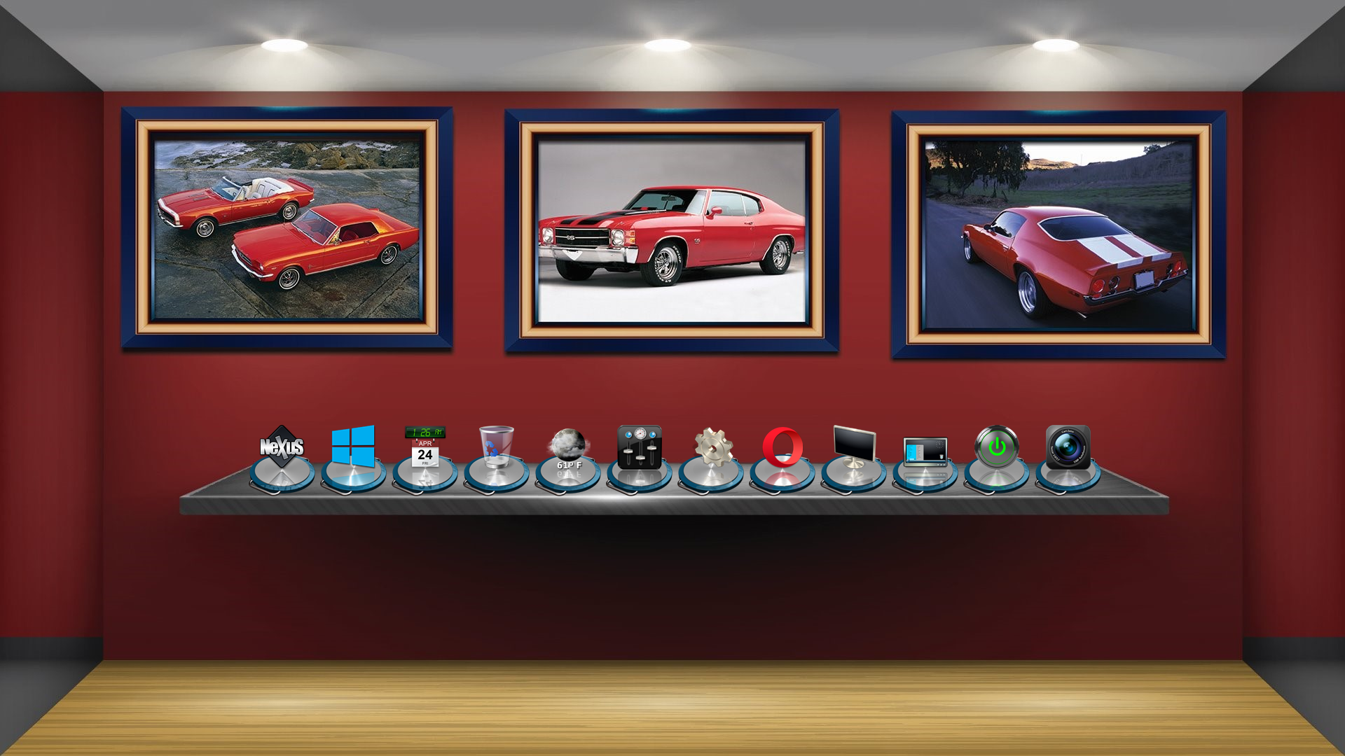 Display Booth with Cars