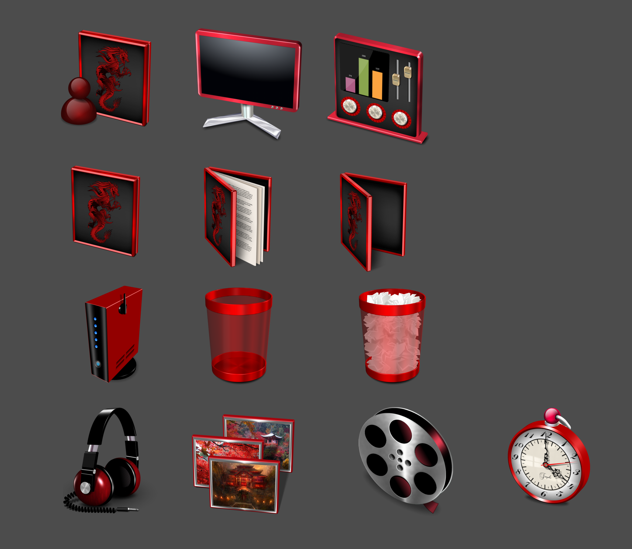 Red Dragon IconPackager Preview