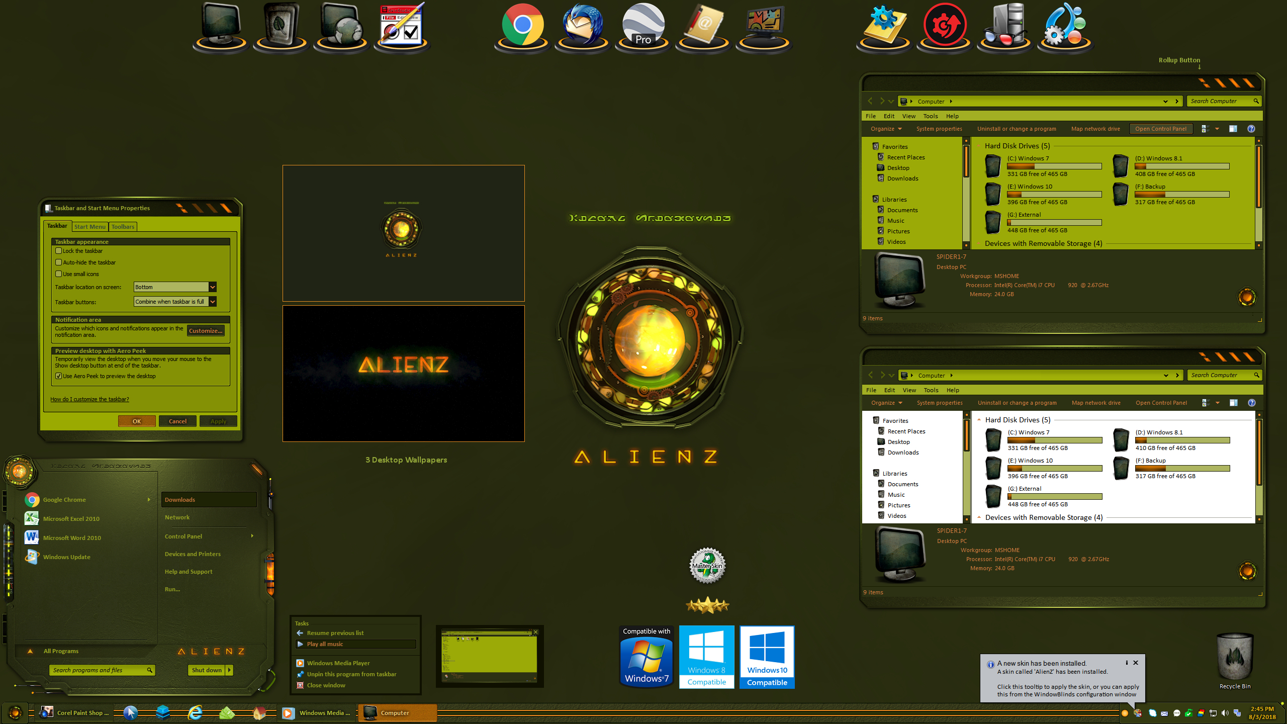 AlienZ for Windowblinds