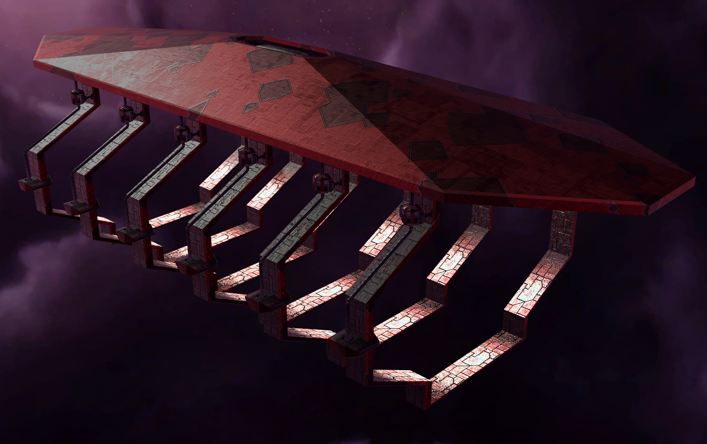 Narn frigate factory orbital structure