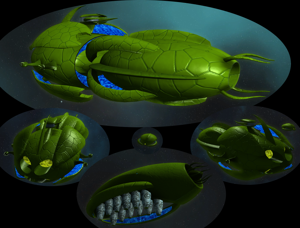 Vorlon carrier and colony ships