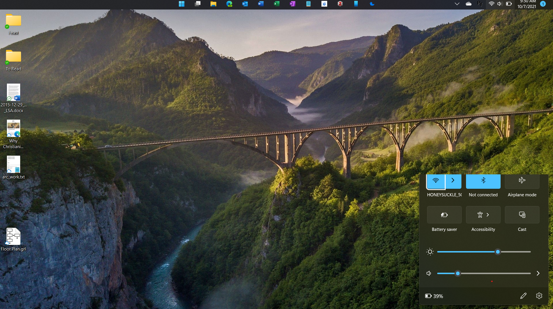 Screenshot of clipped popup with taskbar on top