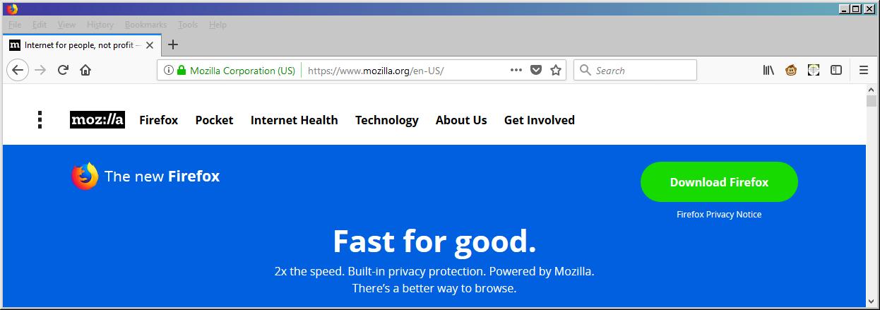 Firefox 57 blank titlebar