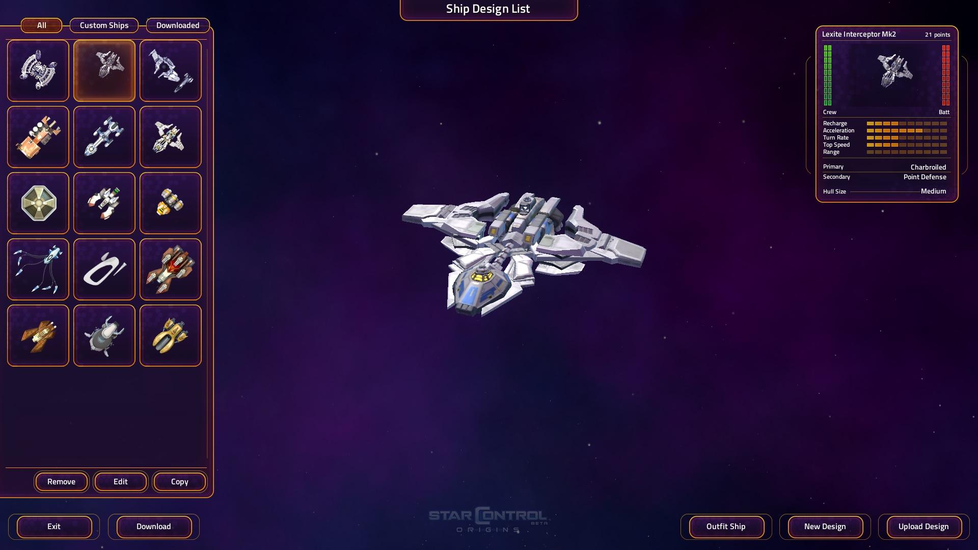 Ship menu