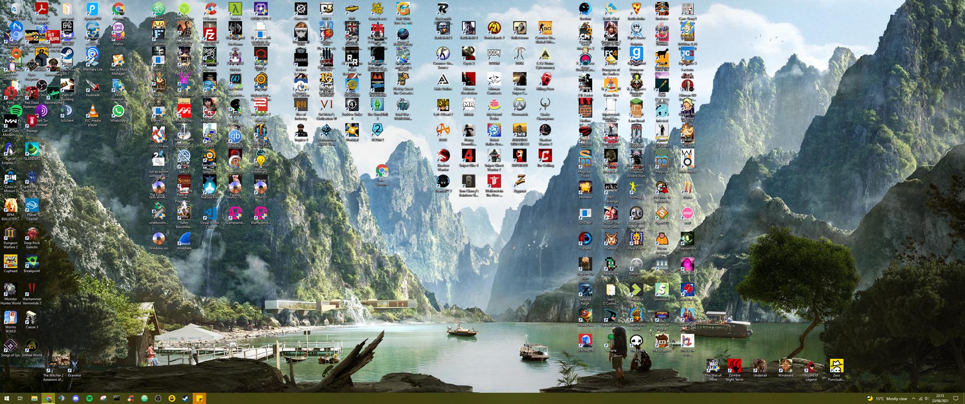 My desktop is now an unusable mess